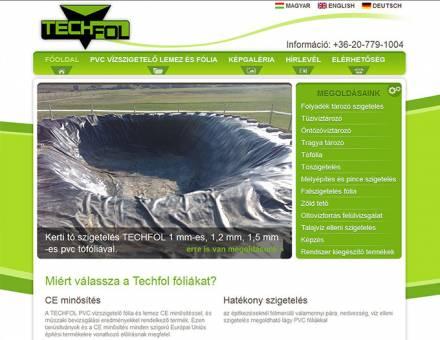 techfol.eu honlap tervezése
