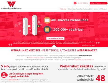 Webáruházkészítésárak.hu termékismertető weboldal