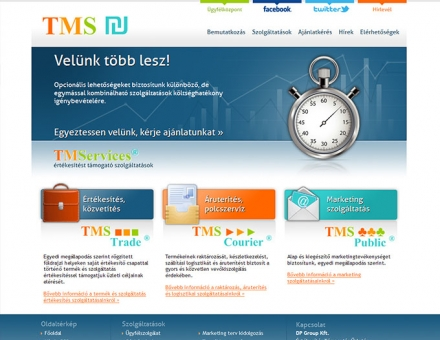 TMS Services értékesítést támogató szolgáltatások weboldal készítés