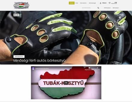 Tubakkesztyu.hu - Minőségi férfi és női bőrkesztyűk, Pécs - reszponzív webáruház készítés