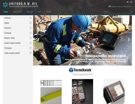 Uniford.hu anyagvizsgálati eszközöket árusító reszponzív weboldal készítés
