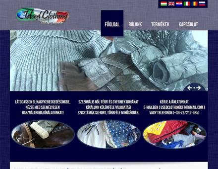 Used Clothing Kft. weboldalának elkészítése