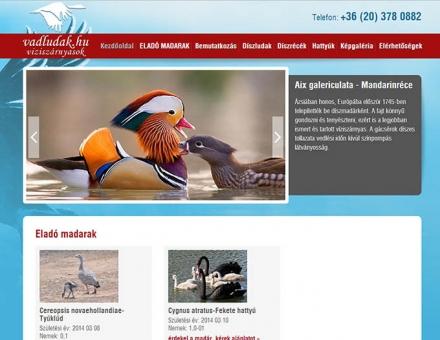 Vadludak.hu weboldal elkészítése