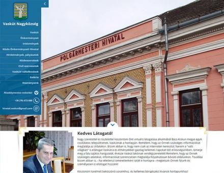 Vaskut-nagyközség önkormányzati reszponzív weboldal készítés