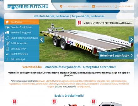 Veresifuto.hu céges bemutatkozó mobil barát honlap készítés
