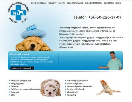 Vet-Man állatorvosi rendelők honlapja