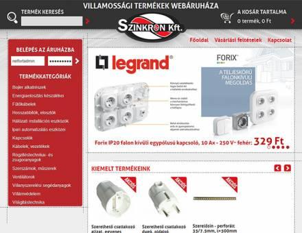 villamossagiwebaruhaz.hu webshop készítése