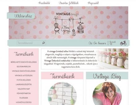 Vintagedekoracio.hu reszponzív webáruház készítés