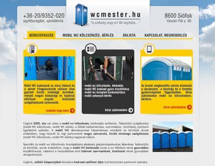 WCMester.hu céges weboldal