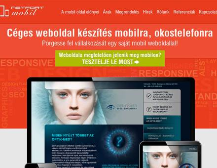 Weboldalkészítésmobilra.hu szolgáltatás bemutató weboldal készítés
