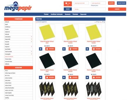 Webshop.megapapir.hu mobil barát webshop készítés