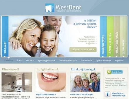 WestDent Fogászati és Szájsebészeti Klinika weboldalkészítés