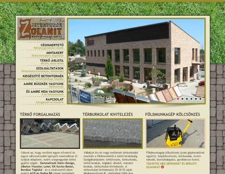 Zolanit Kft. weboldalának megújítása