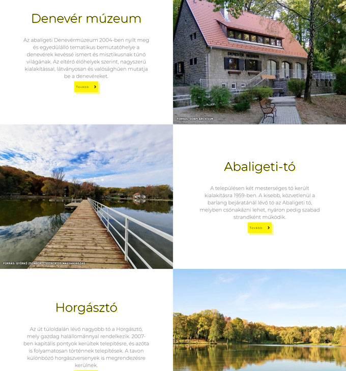 Abaliget.hu - Abaliget hivatalos honlapja - reszponzív honlapkészítés