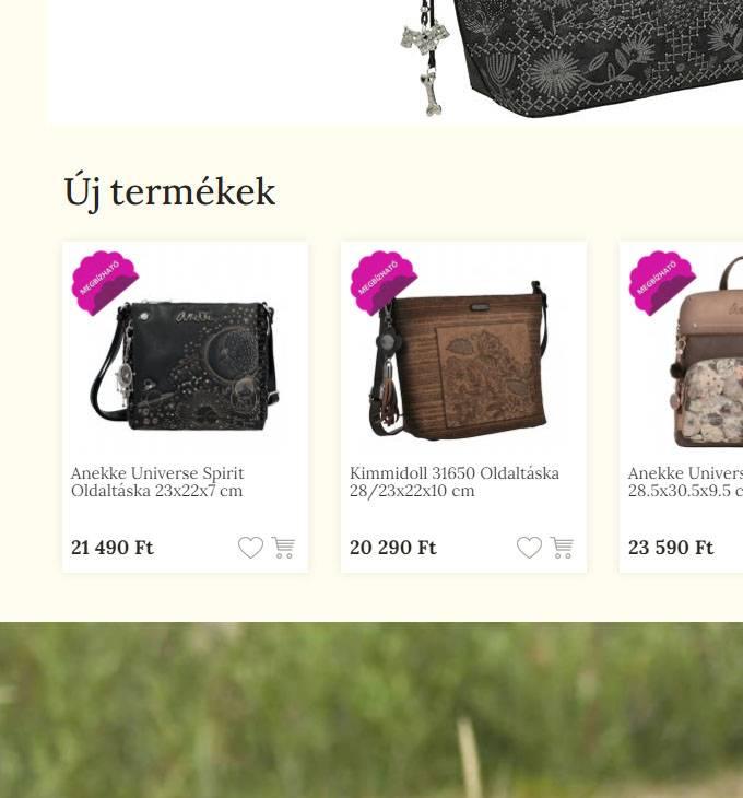 Anekketaska.hu - táksa, hátizsák, laptoptáska, utazótáska - reszponzív webáruház készítés