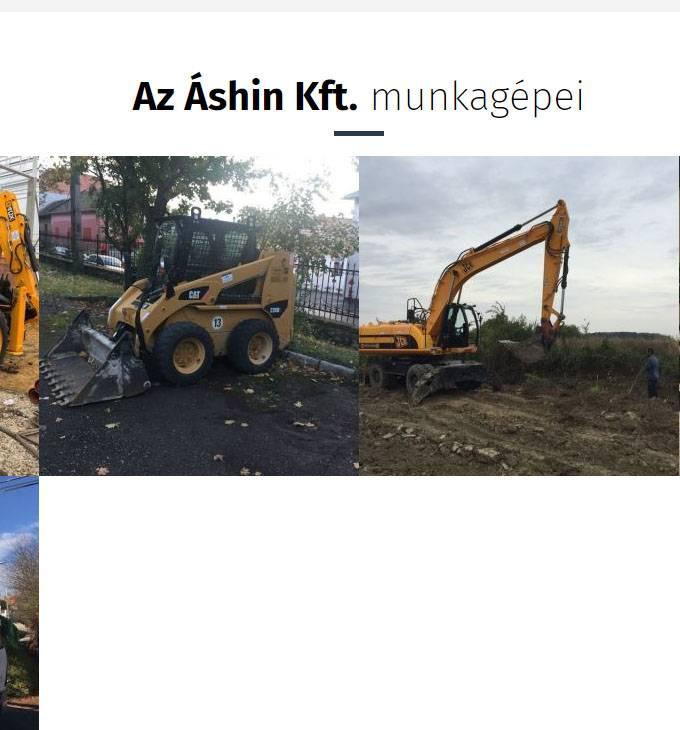 Ashinkft.hu - mélyépítéssel foglalkozó vállalkozás reszponzív weboldalának készítése