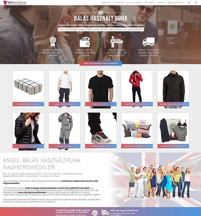 Balashasznaltruha.eu céges bemutatkozó honlap készítése