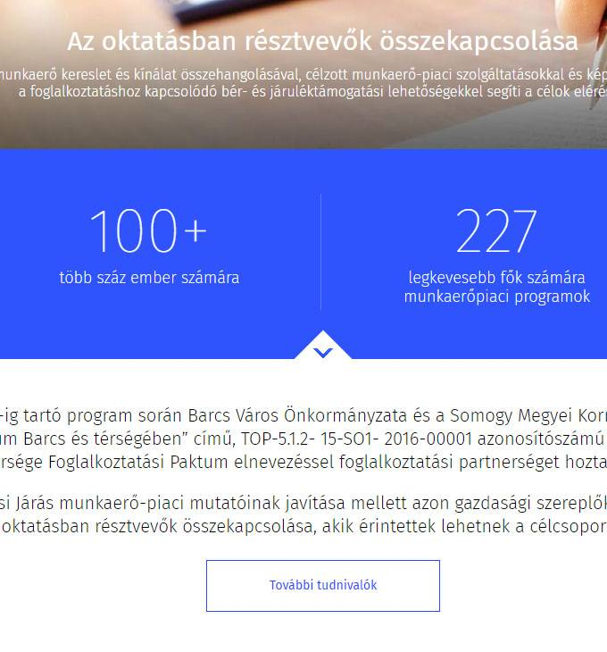 Barcspaktum.hu Barcs és térsége foglalkoztatási paktum - mobil barát honlapkészítés