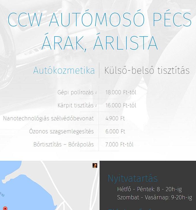 Ccwautomosopecs.hu reszponzív pécsi autómosó honlap készítés