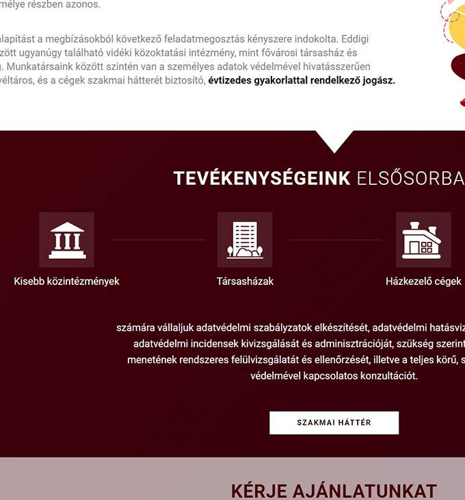 Data-protect.hu - Adatvédelmi szabályzat, hatásvizsgálat készítés - reszponzív honlapkészítés