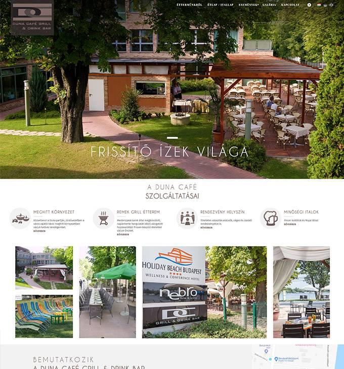 Dunagrillterasz.hu - Duna Café Grill & Drink Bar - reszponzív honlapkészítés