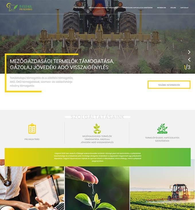 Erflo.hu - Pályázatírás, mezőgazdasági termelők támogatása - reszponzív honlapkészítés