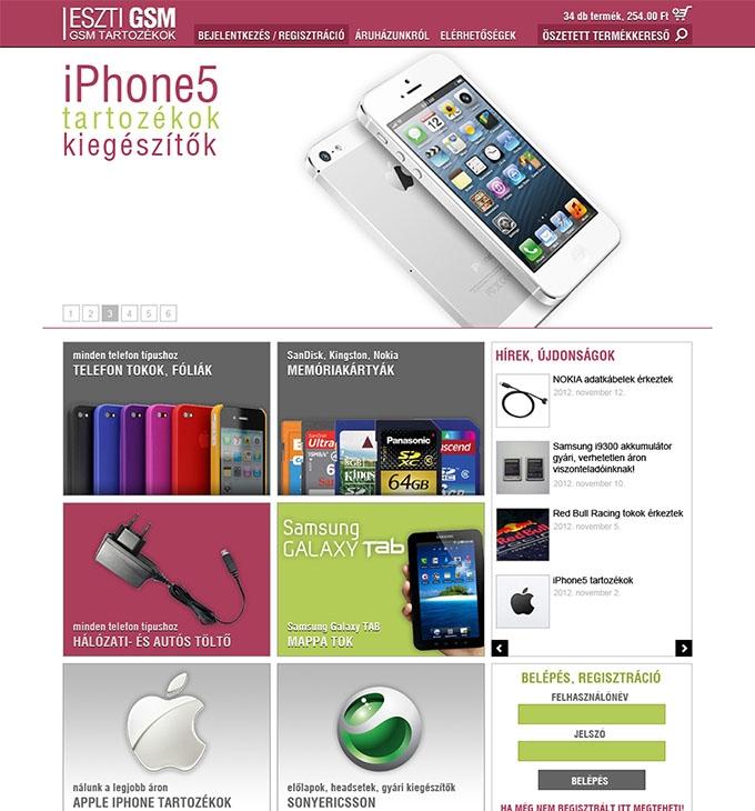 esztigsm.hu webáruház megújítása