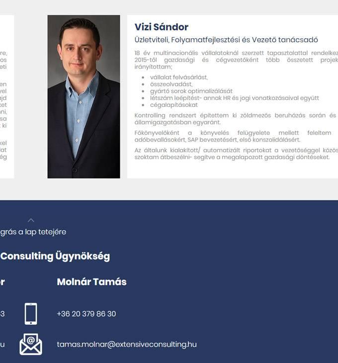 Extensiveconsulting.hu - Üzletviteli tanácsadás - reszponzív honlapkészítés