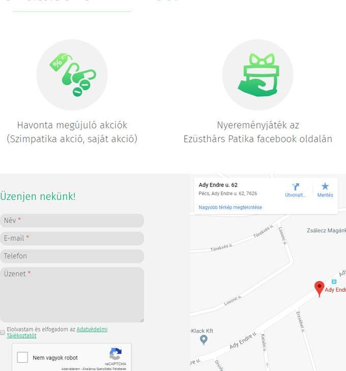 Ezustharspatika.hu - reszponzív bemutatkozó honlapkészítés