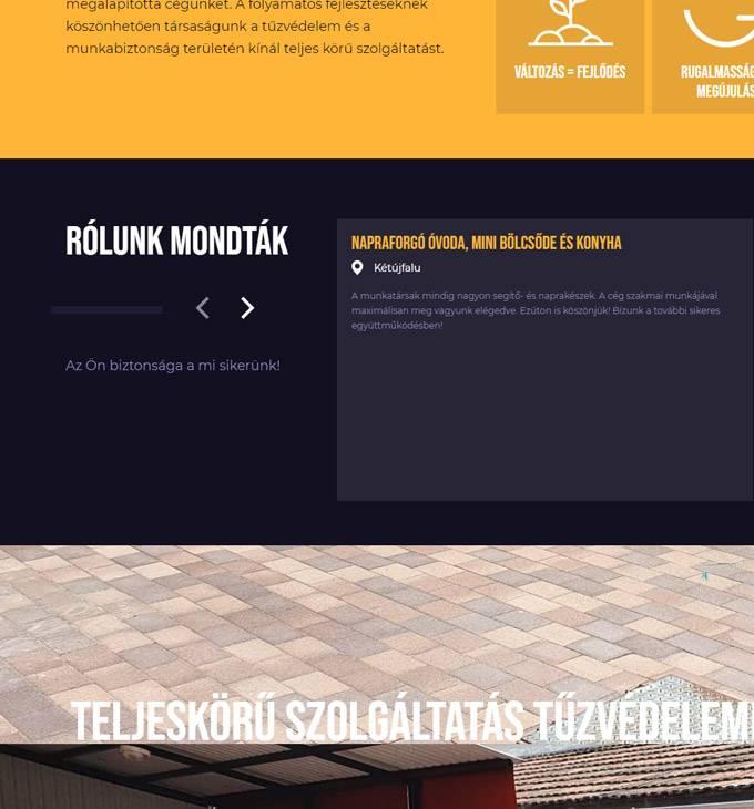 Fireball.hu - Tűzvédelem, munkavédelem - Reszponzív honlapkészítés