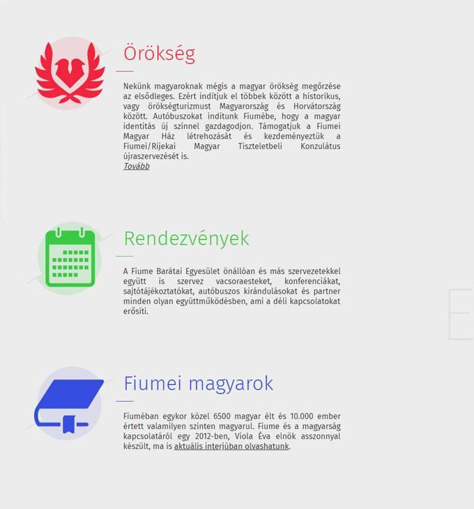 Fiumebaratai.hu - Fiume Barátai Egyesület - reszponzív honlapkészítés