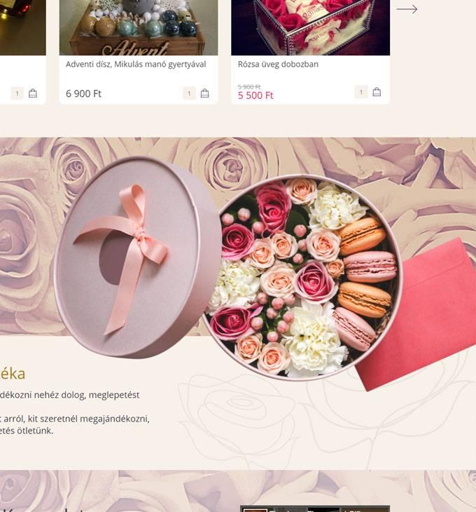 Fleurbox.hu - Egyedi ajándékboxok - reszponzív webáruház készítés