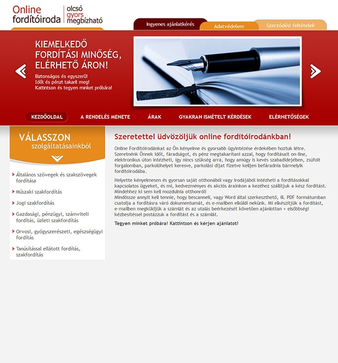 forditoirodaonline.hu honlap készítés