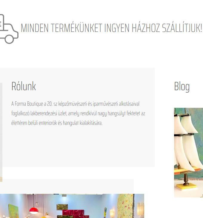 Formaboutique.hu - Antik bútorok - reszponzí webáruház készítés