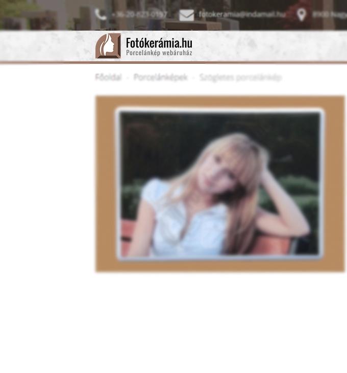 Fotókerámia.hu logó készítés