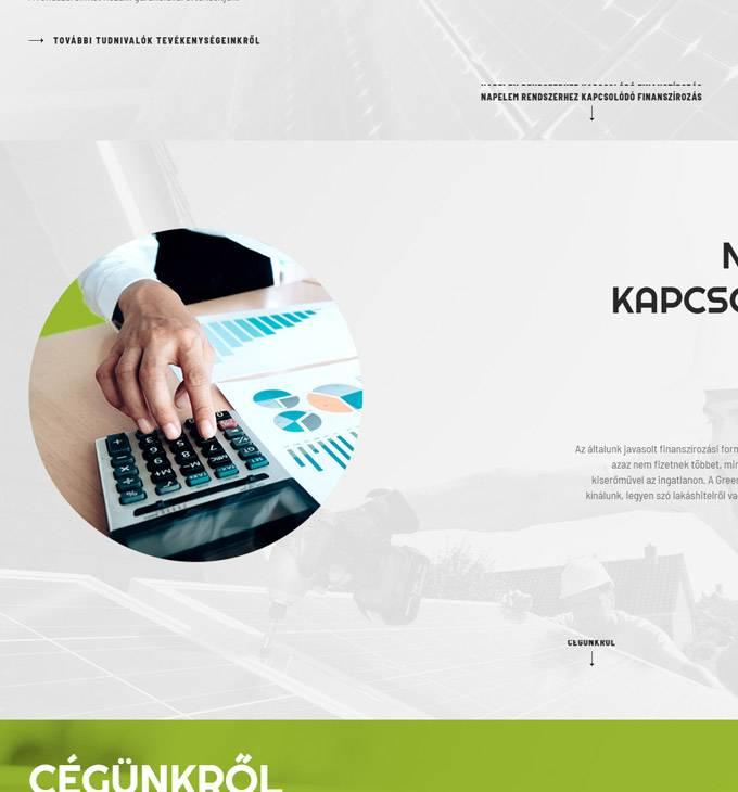 Gaenergy.hu - Green Apple Energy Kft. napelemes rendszerek - reszponzív honlapkészítés
