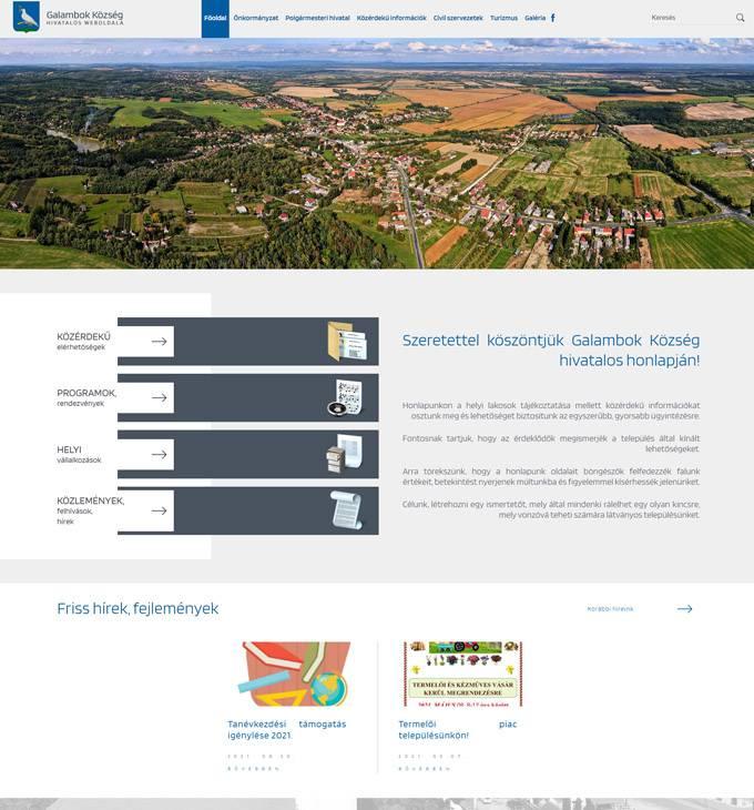 Galambok.hu - Galambok Község - Reszponzív honlapkészítés