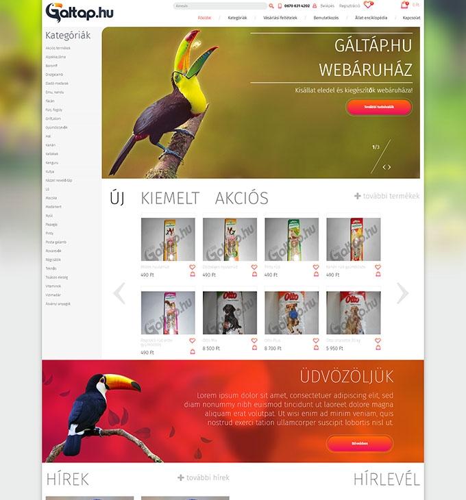 Galtap.hu kisállat eledel és kiegészítő webáruház
