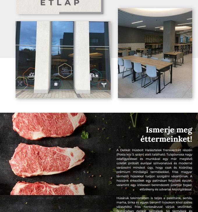 Gastromanager.hu - Gastro Hall étterem & kávézó - reszponzív honlapkészítés