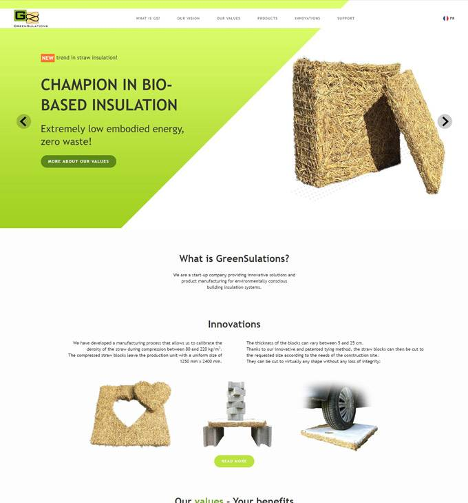Gs-modules.com - bio szigetelőanyag - reszponzív honlapkészítés