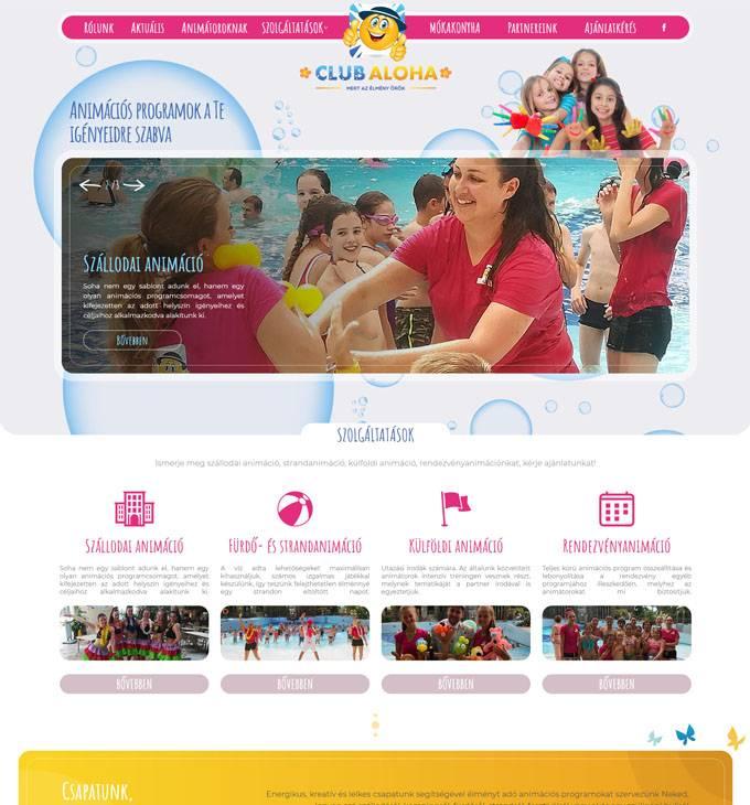 Gyermekanimacio.hu - gyermek animáció, animációs programok szervezése - reszponzív honlapkészítés