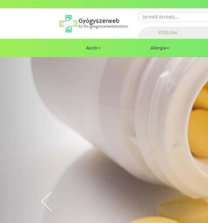 Gyogyszerweb.hu - reszponzív gyógyszer webáruáz készítés