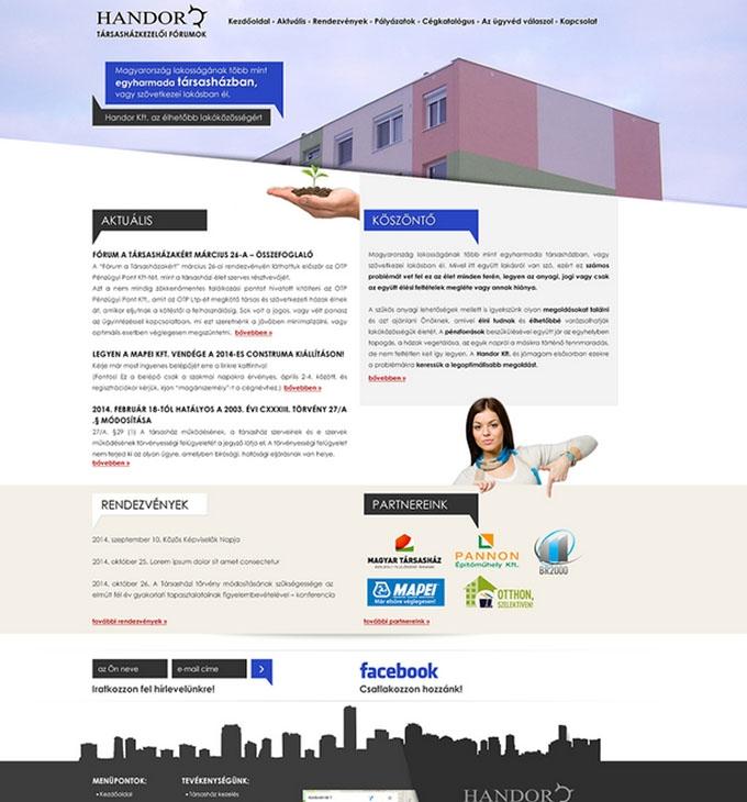 Handor.hu céges bemutatkozó honlap készítés
