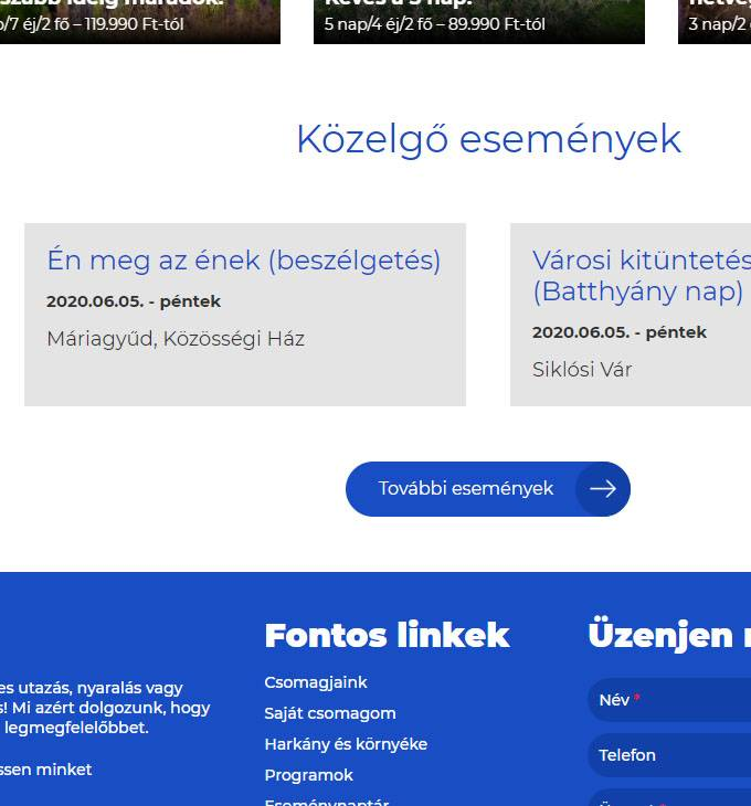 Harkanytravel.hu - Harkány Travel Utazási Iroda - reszponzív honlapkészítés