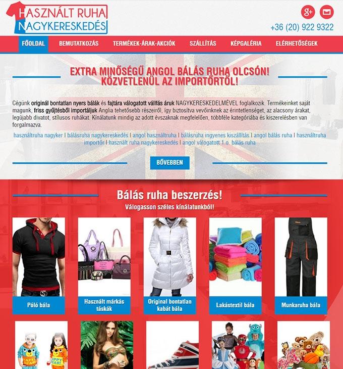 75649f4aaa hasznaltruhanagykereskedes.eu bemutatkozó reszponzív weboldal készítés