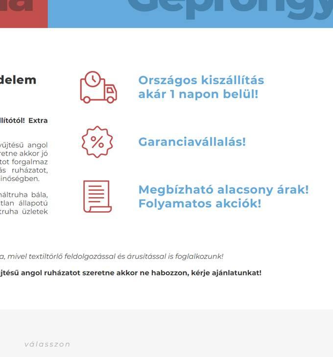 Hasznaltruhaoutlet.hu - Minőségi angol bálás használtruha, géprongy - reszponzív honlapkészítés