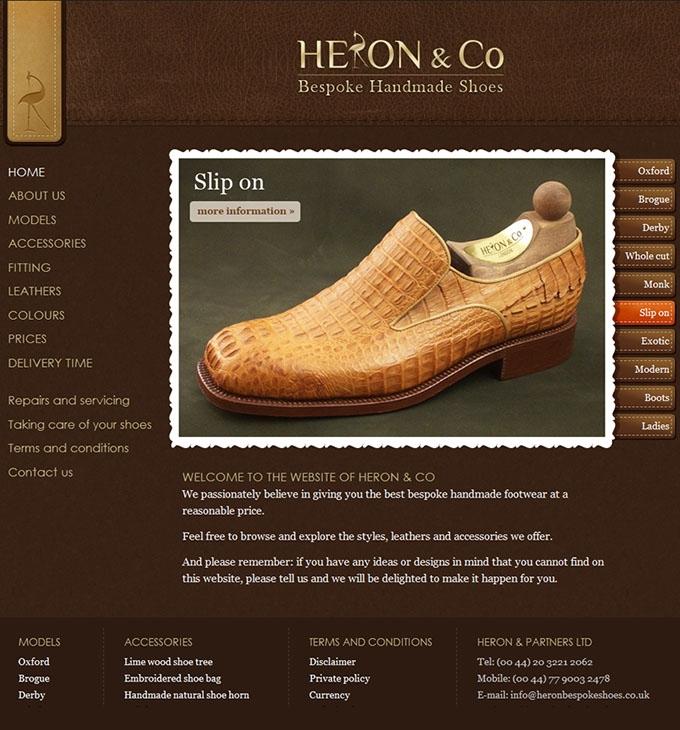 heronbespokeshoes.co.uk weboldal