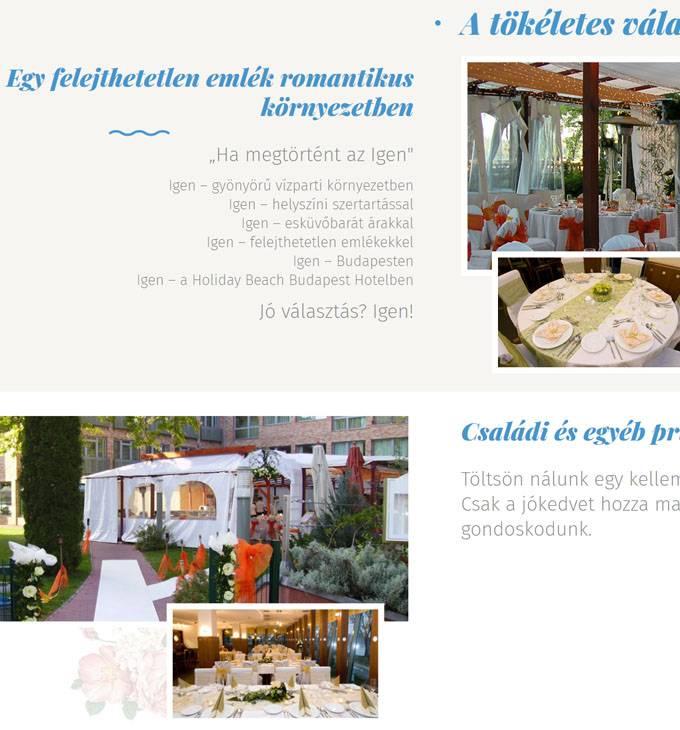 Holidaybeach.hu - Szálloda, rendezvényhelyszínek - reszponzív honlapkészítés