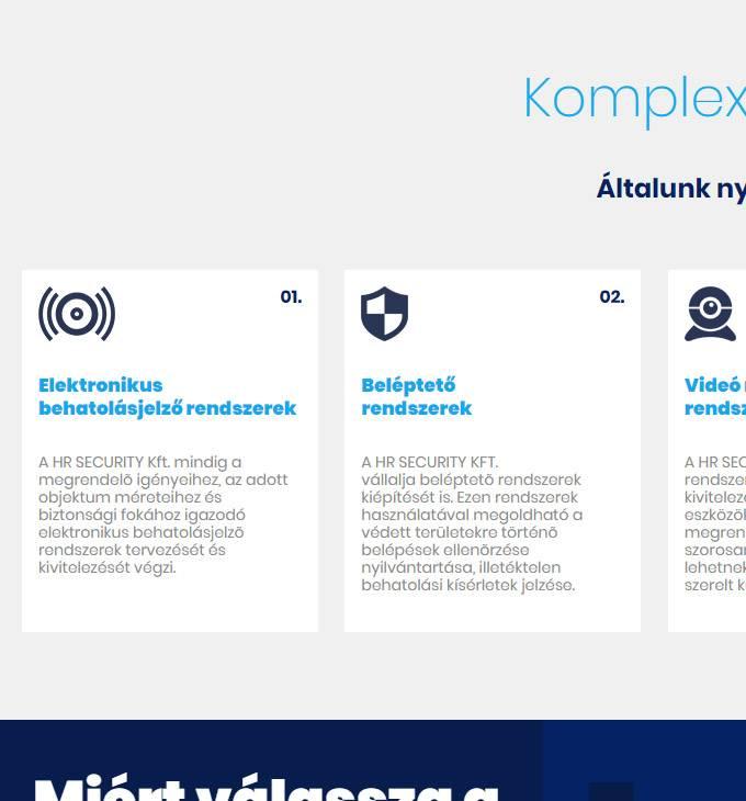 Hrsecurity.eu - Vagyonvédelem, tűzjelző rendszer, riasztók - reszponzív honlapkészítés