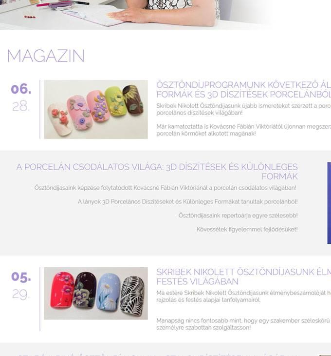 Indigonails.hu Indigo Nails Magyarország reszponzív webáruház készítés